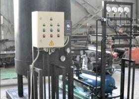 Все элементы установки подготовки удобрений размещены на единой раме.