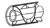 Винтовые элементы на поверхности центральной трубы
