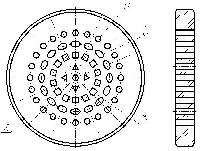 Перегородки с каналами различной формы
